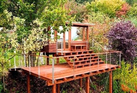 立体绿化树屋设计