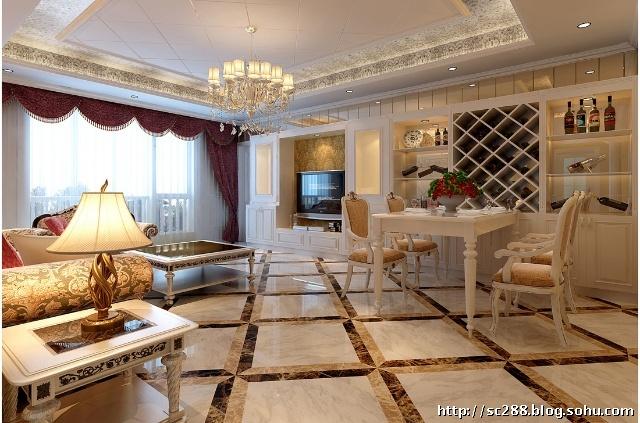 东湖湾120平三居室欧式风格装修主卧室设计效果图