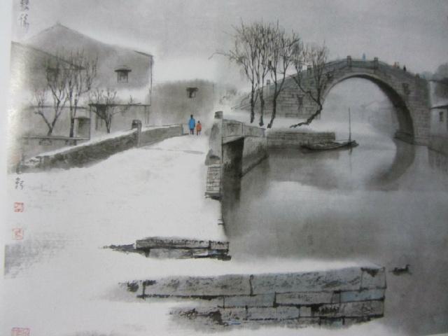 桥梁手绘素描图