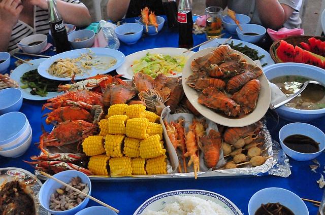 丰盛的海鲜大餐