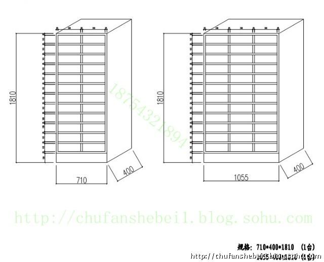 不锈钢碗柜、大师碗柜、别墅柜钥匙柜、空间磁铁烤瓷碗柜设计图图片