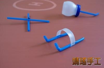 乒乓球和吸管废物利用手工制作的小直升机