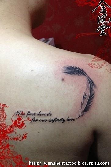 手臂字母臂环纹身图案