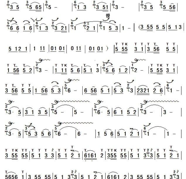 孔雀与凤尾竹 葫芦丝曲谱 葫芦丝歌谱